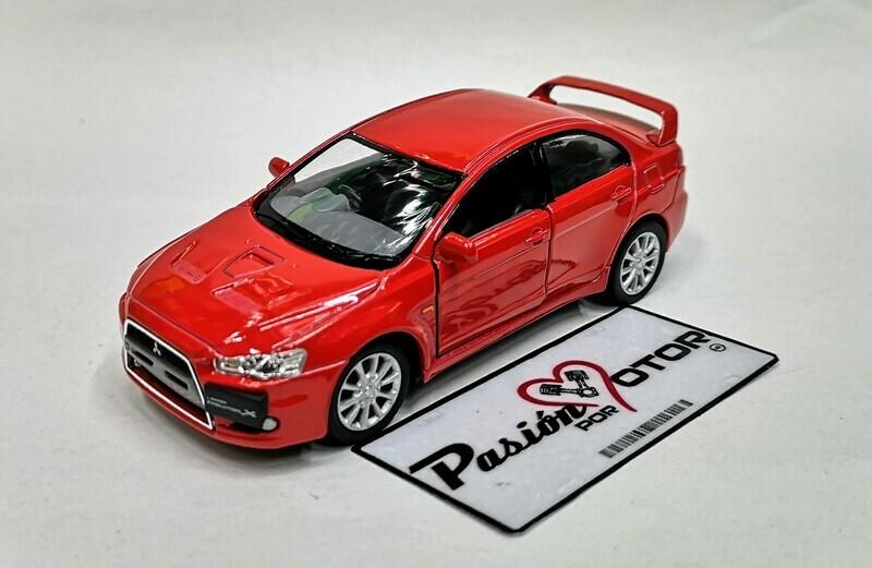1:36 Mitsubishi Lancer Evolution X 2008 Rojo Kinsmart En Display a Granel 1:32