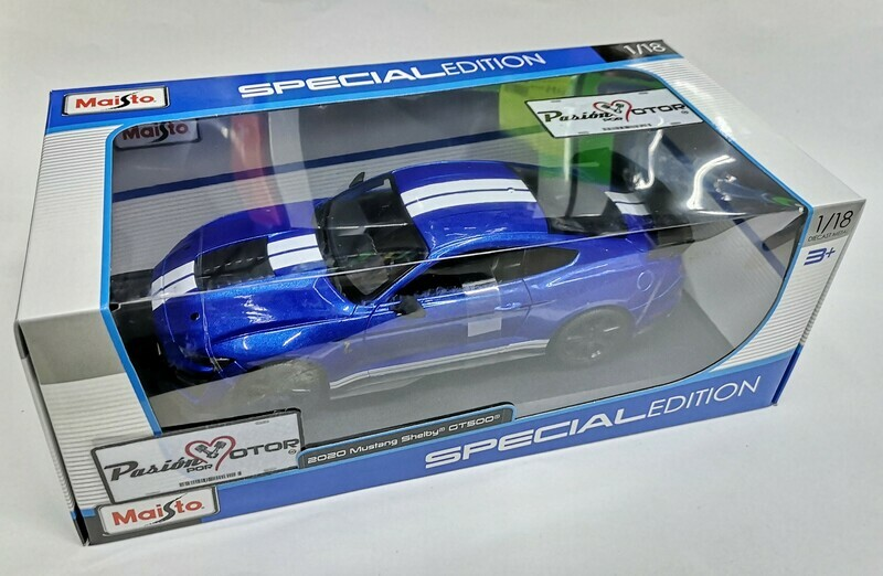 1:18 Ford Mustang Shelby GT500 2020 Azul Maisto Special Edition