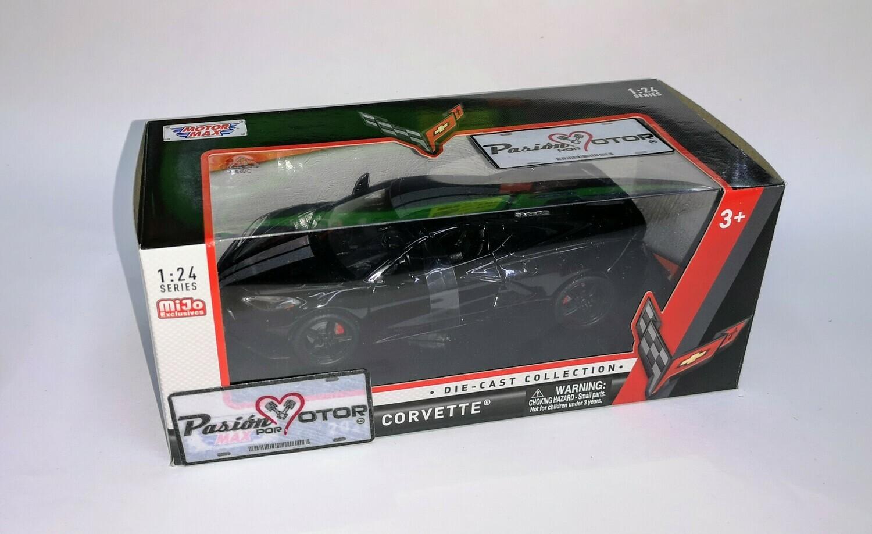 1:24 Chevrolet Corvette Stingray 2020 Negro Motor Max C Caja