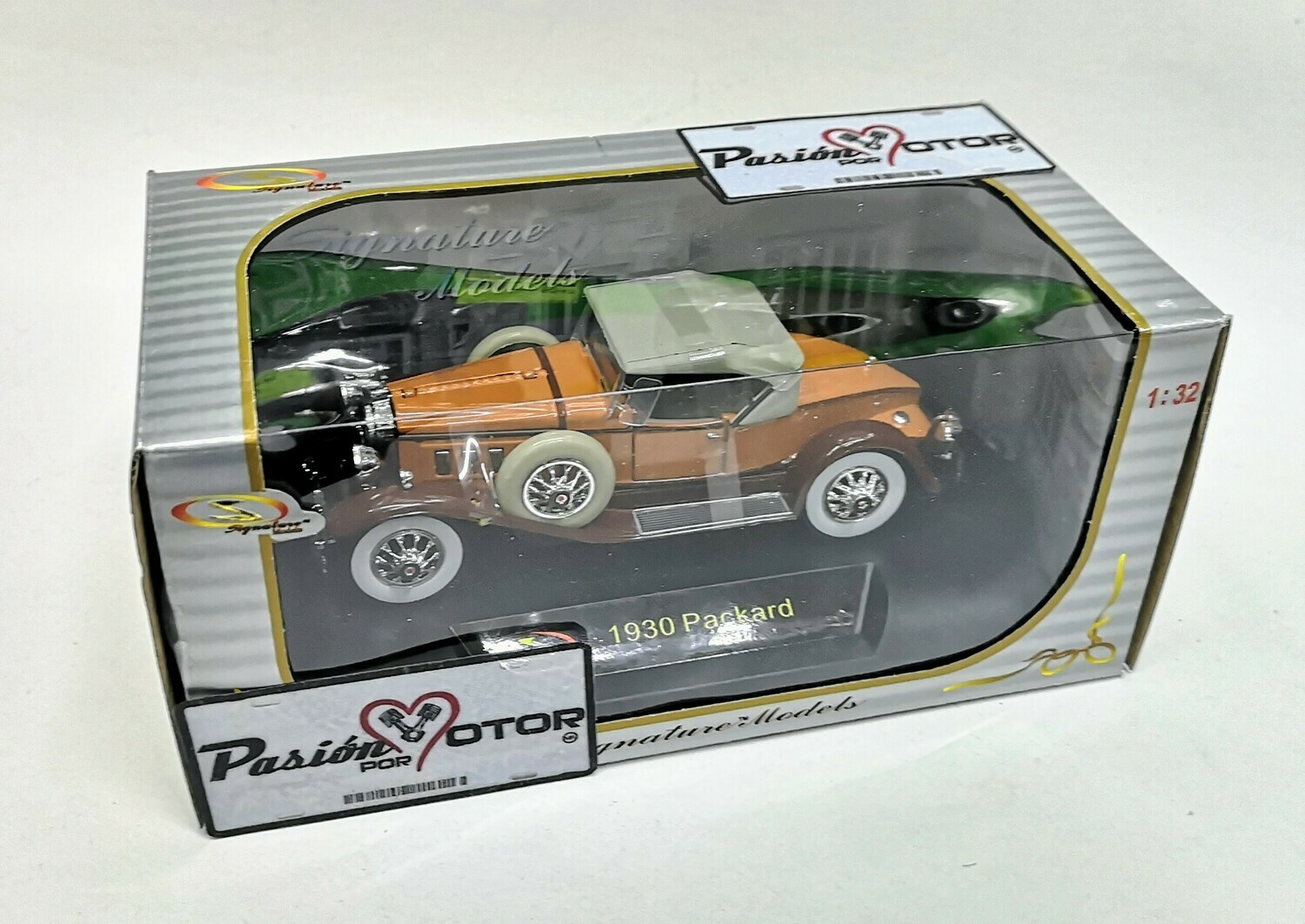 1:32 Packard 734 Boattail Speedster Roadster 1930 Naranja C Cafe Signature Models Carcacha C Caja