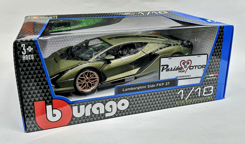 1:18 Lamborghini Sian FKP 37 2019 Verde Bburago
