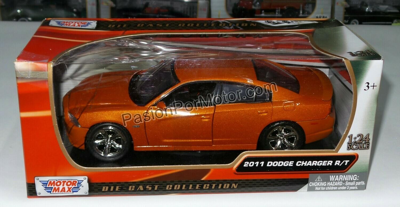 1:24 Dodge Charger R/T 2011 Cobre Motor Max En Caja
