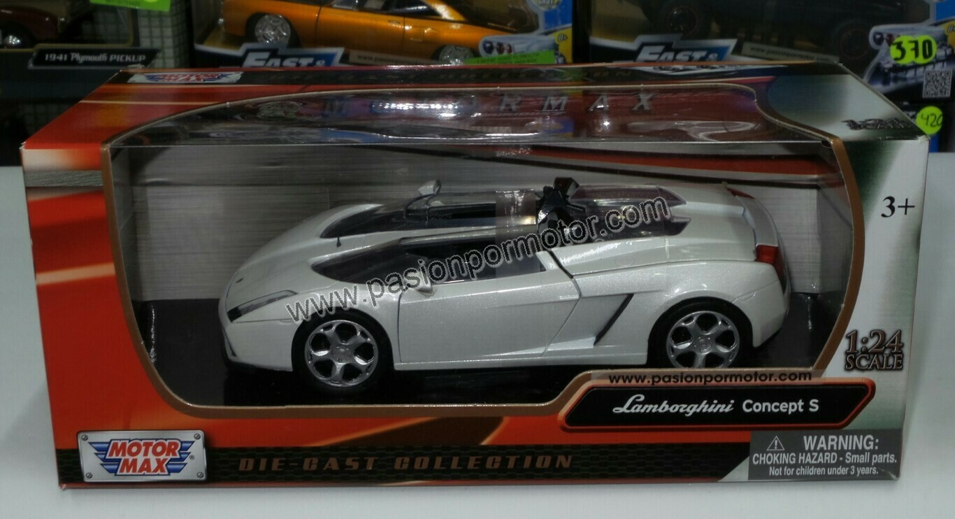 1:24 Lamborghini Concept S 2006 Blanco Motor Max C Caja