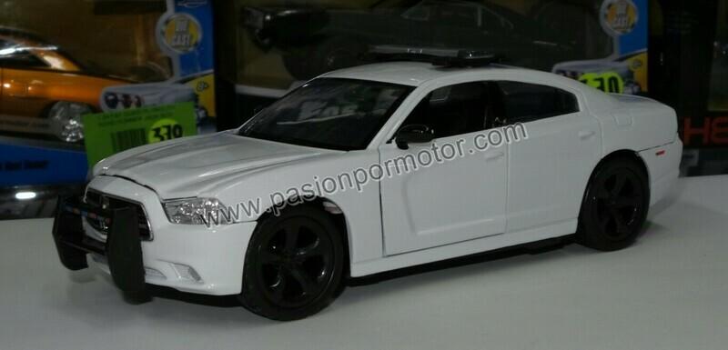1:24 Dodge Charger Pursuit 2011 Blanco Patrulla Motor Max En Caja