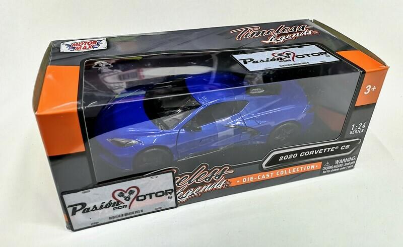 1:24 Chevrolet Corvette Stingray 2020 Azul Motor Max C Caja