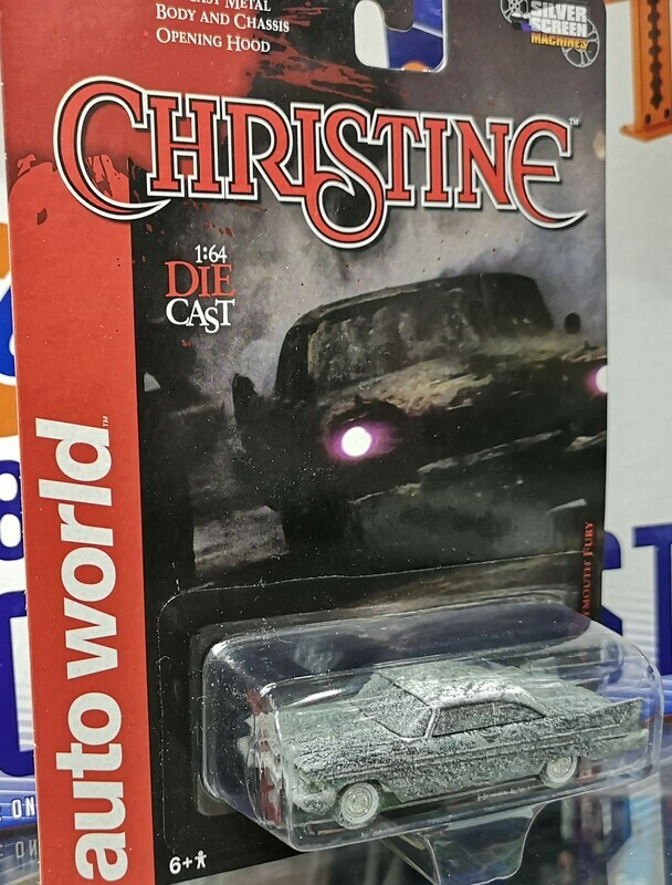 1:64 Plymouth Fury 1958 Christine After Fire Auto World Silver Screen Machines