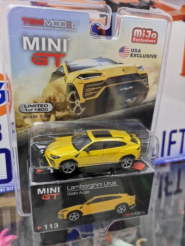 1:64 Lamborghini Urus Amarillo TSM Model - Mini GT Mijo