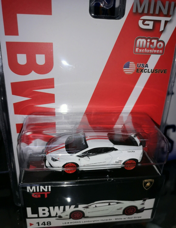 1:64 Lamborghini Huracan LB*Works Blanco TSM Model - Mini GT Mijo