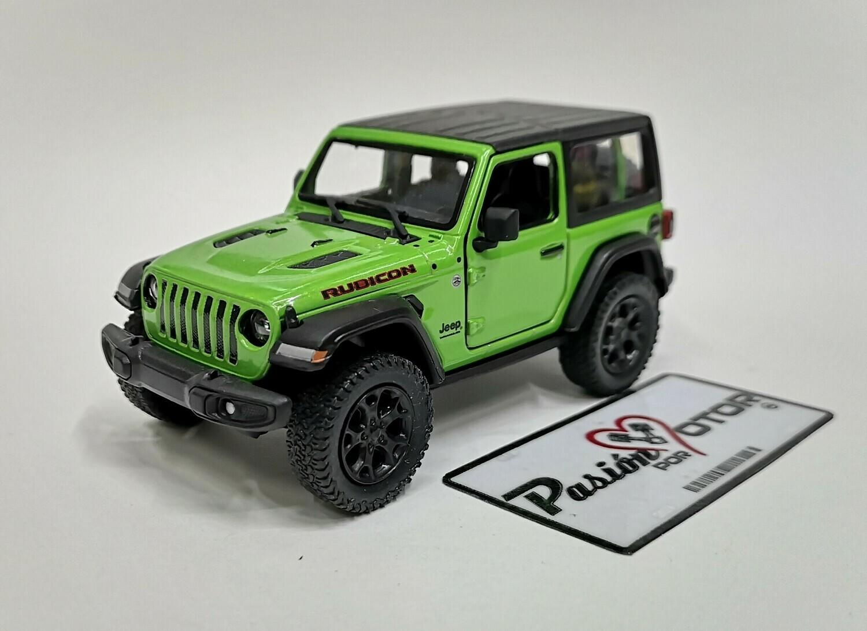 1:34 Jeep Wrangler Rubicon Hard Top 2018 Verde  Kinsmart En Display / A Granel 1:32
