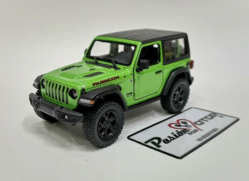 1:34 Jeep Wrangler Rubicon Hard Top 2018 Verde  Kinsmart En Display / A Granel 1:32