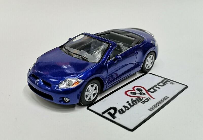 1:36 Mitsubishi Eclipse Spyder Convertible 2007 Azul Kinsmart En Display / a Granel 1:32