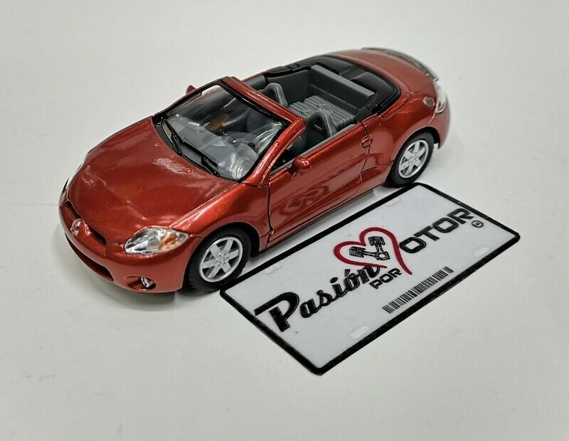 1:36 Mitsubishi Eclipse Spyder Convertible 2007 Cobre Kinsmart En Display / a Granel 1:32
