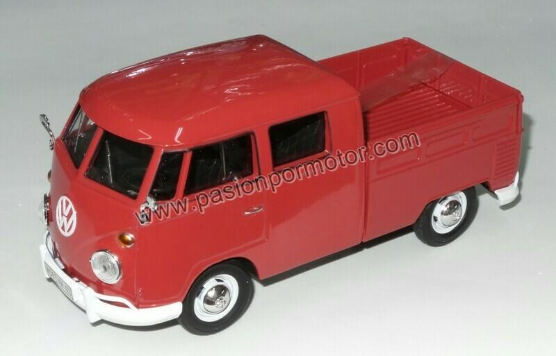 1:24 Volkswagen Type 2 T1 Combi Pick Up 1967 Rojo Motor Max C Caja