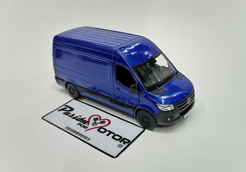 1:48 Mercedes Benz Sprinter Techo Sobreelevado 2020 Azul Kinsmart En Display / a Granel