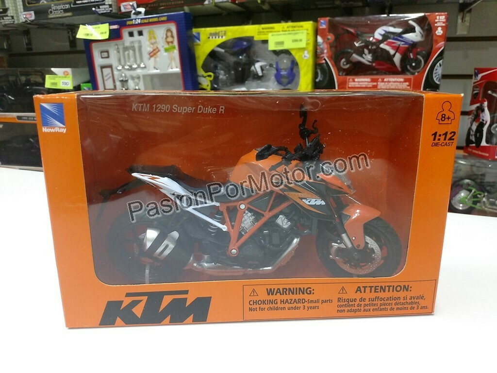 1:12 Ktm 1290 Super Duke R Naranja Moto New Ray