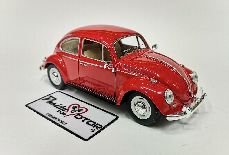 1:24 Volkswagen Beetle 1967 Classic Rojo Kinsmart En Display / A Granel