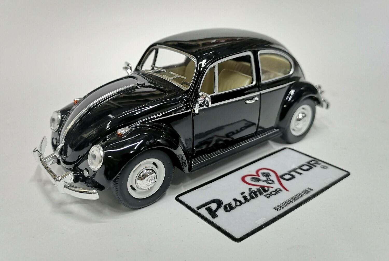 1:24 Volkswagen Beetle 1967 Classic Negro Kinsmart En Display / A Granel