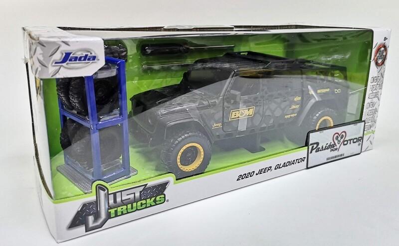 1:24 Jeep Gladiator 2020 Cafe c Gráficos Jada Toys Just Trucks C Rines Extra