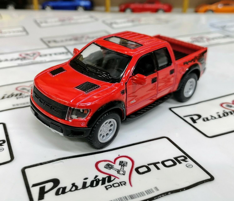 1:46 Ford F-150 SVT Raptor Super Crew 2013 Rojo Pick Up Kinsmart En Display a Granel 1:43