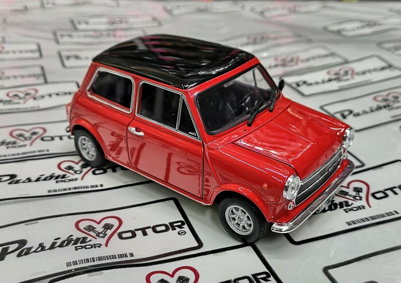 1:24 Mini Cooper 1300 1970 Rojo Con Techo Negro Welly C Caja