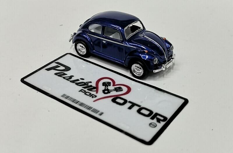 1:64 Volkswagen Beetle 1967 Azul Marino Friccion Kinsmart En Display / a Granel