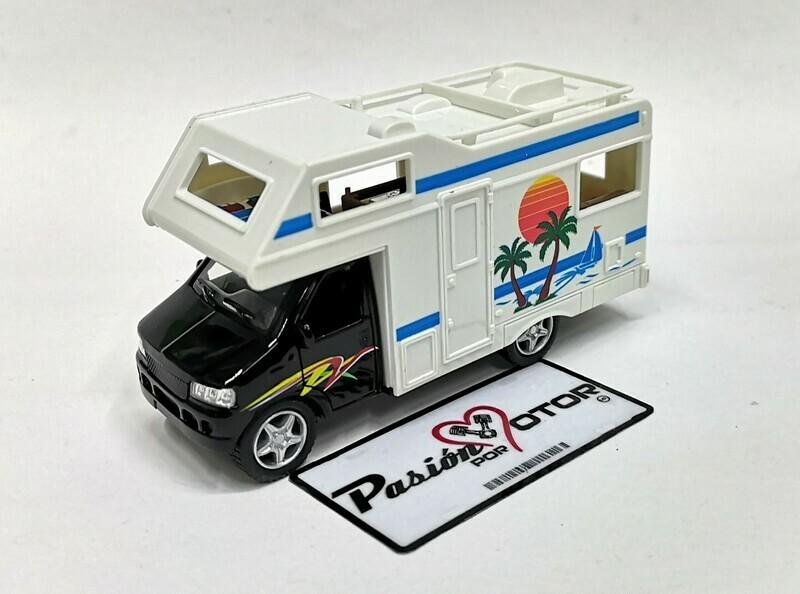 1:43 Euro Camper Motor Home Negro Kinsmart En Display / a Granel