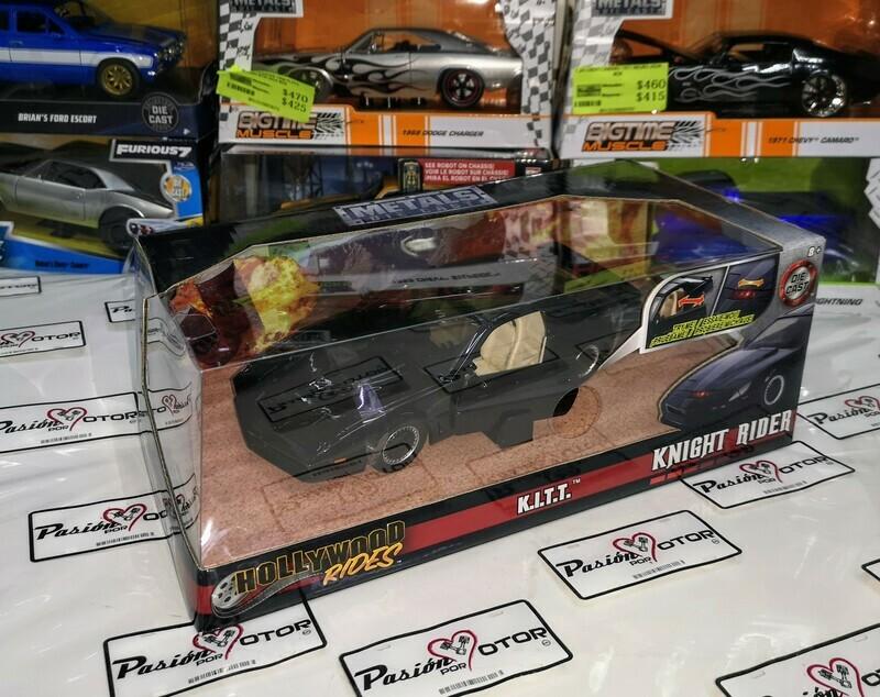 1:24 Pontiac Firebird Trans Am 1982 Knight Rider KITT Auto Increíble Jada Toys Metals Hollywood Rides En Caja