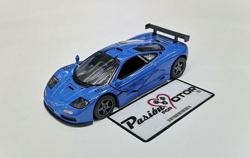 1:34 McLaren F1 GTR 1995 Azul Kinsmart Display / A Granel