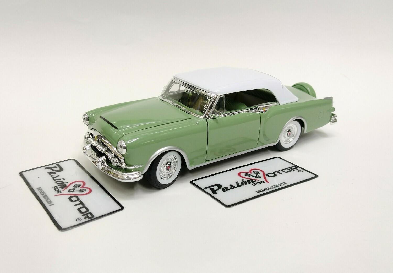 Welly 1:27 Packard Caribbean Soft Top 1953 Verde Convertible Con Caja 1:24