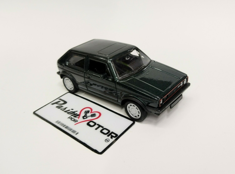 1:32 Volkswagen Golf GTi MK1 A1 1983 Pirelli Verde Fricción Welly En Display a Granel Caribe