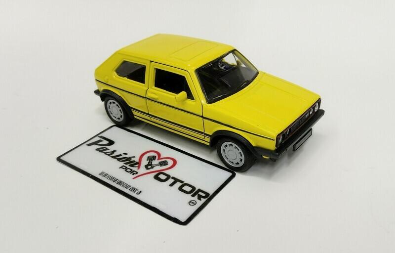 1:32 Volkswagen Golf GTi MK1 A1 1983 Pirelli Amarillo Fricción Welly En Display a Granel Caribe