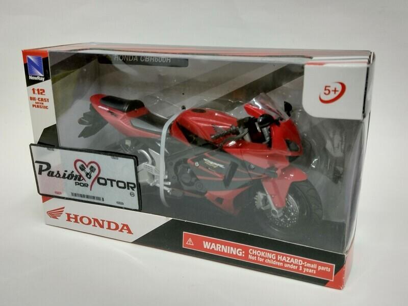 New Ray 1:12 Honda CBR 600RR Motocicleta 2006 Rojo Con Caja
