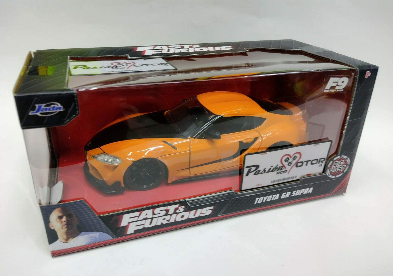 Jada Toys 1:24 Toyota GR Supra Coupe 2020 Naranja Rapido y Furioso 9 Con Caja