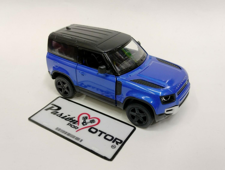 Kinsmart 1:36 Land Rover Defender 90 Suv 2020 Azul Display a Granel 1:32