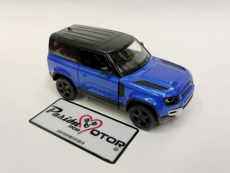 Kinsmart 1:36 Land Rover Defender 90 Suv 2020 Azul Display a Granel 1:32