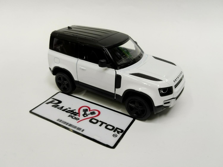 Kinsmart 1:36 Land Rover Defender 90 Suv 2020 Blanco Display a Granel 1:32