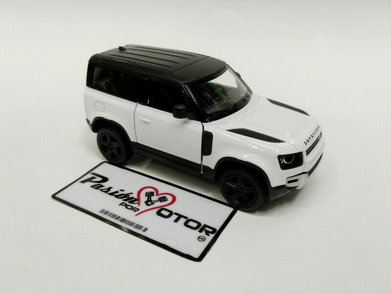 Kinsmart 1:36 Land Rover Defender 90 Suv 2020 Blanco Display a Granel 1:32