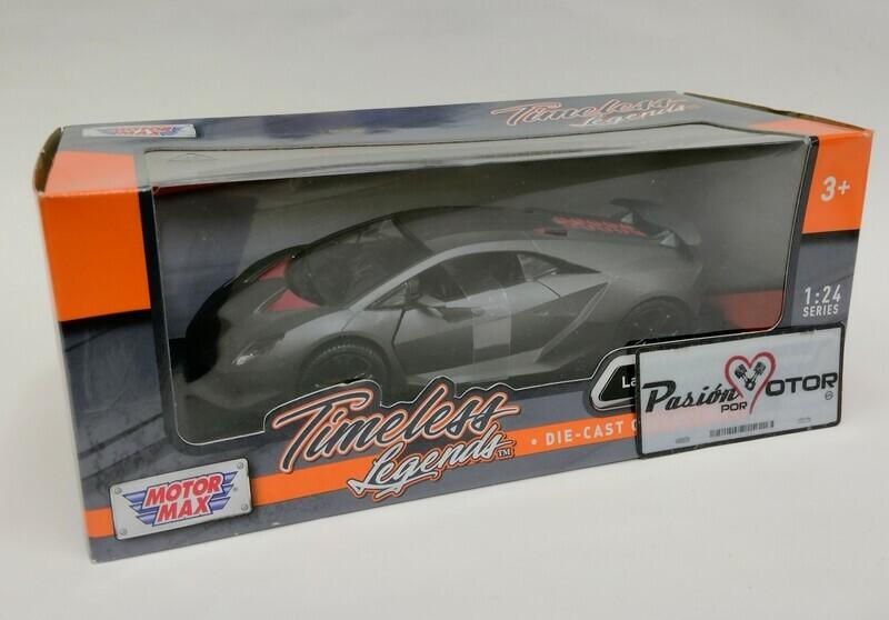Motor Max 1:24 Lamborghini Sesto Elemento Coupe 2012 Gris Mate Timeless Legends Caja