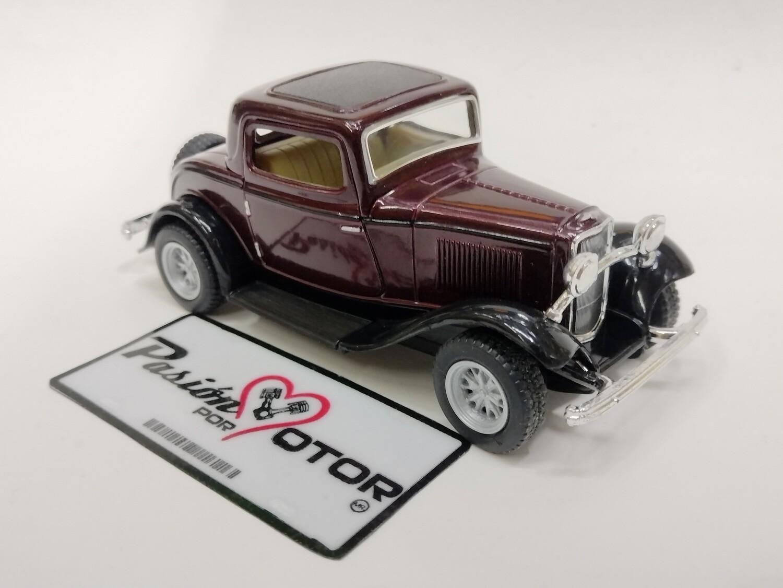 Kinsmart 1:34 Ford 3 Window Coupe 1932 Vino Display a Granel 1:32