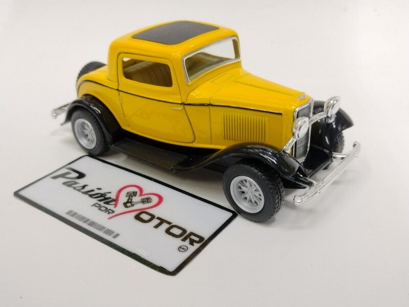 Kinsmart 1:34 Ford 3 Window Coupe 1932 Amarillo Display a Granel 1:32