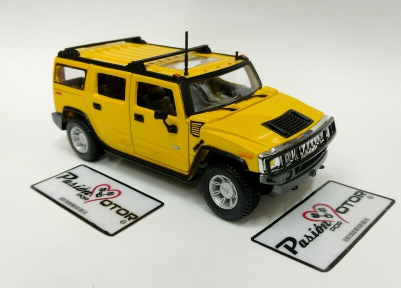 Maisto 1:27 Hummer H2 Suv 2003 Amarillo Special Edition Display a Granel 1:24