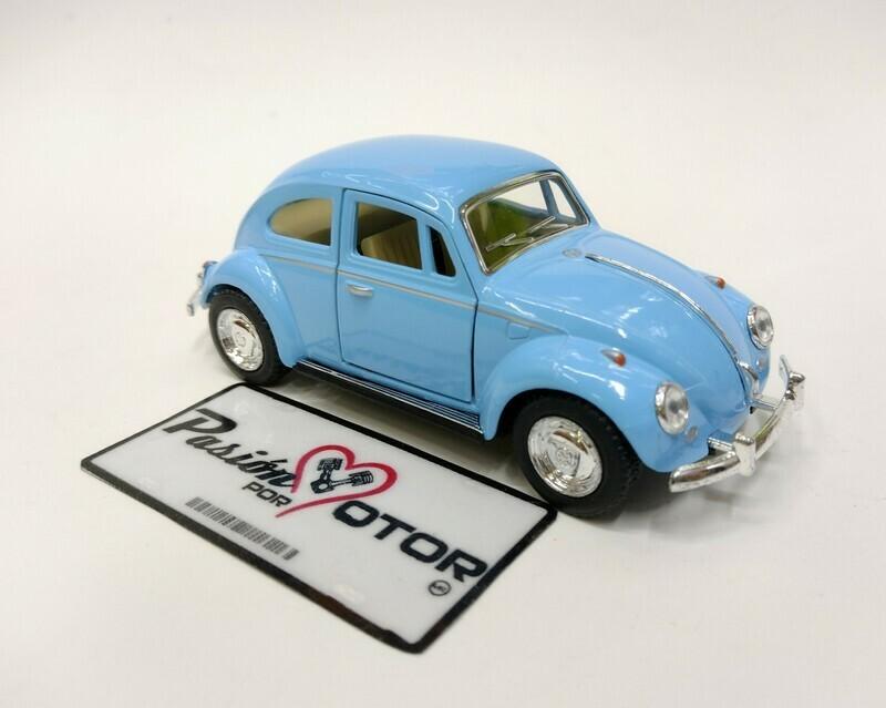 Kinsmart 1:32 Volkswagen Beetle Sedan 1967 Azul Pastel Display a Granel