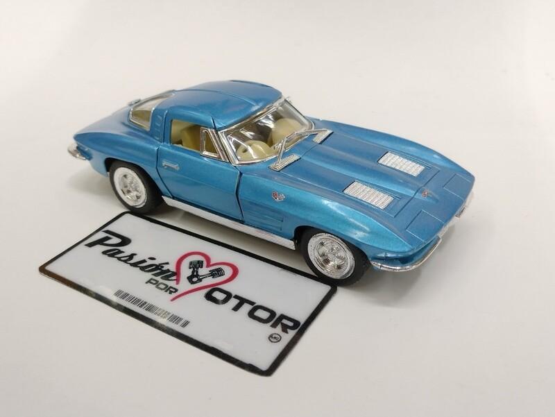 Kinsmart 1:36 Chevrolet Corvette Coupe Sting Ray 1963 Azul Display a Granel  1:32