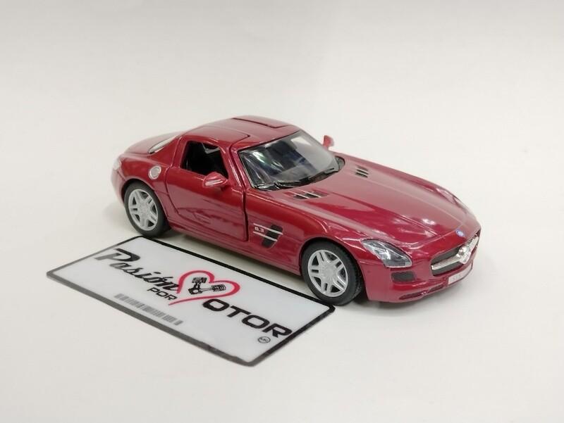 Kinsmart 1:36 Mercedes Benz SLS AMG Coupe 2010 Vino Display a Granel 1:32