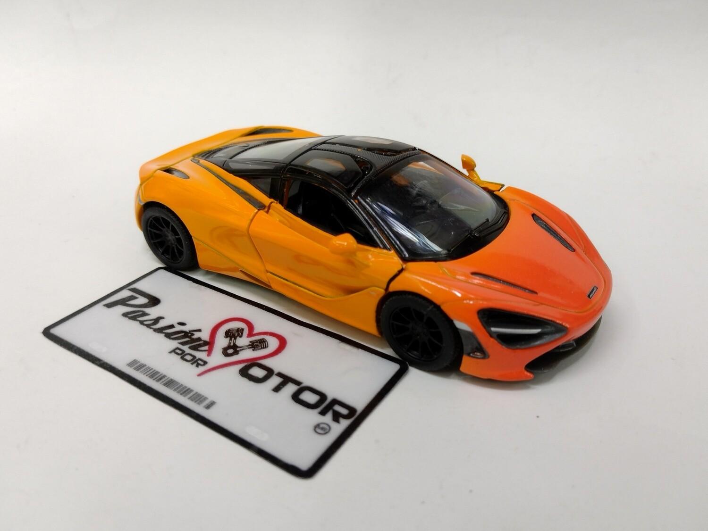 Kinsmart 1:36 McLaren 720S Coupe 2017 MSO Naranja Display a Granel 1:32