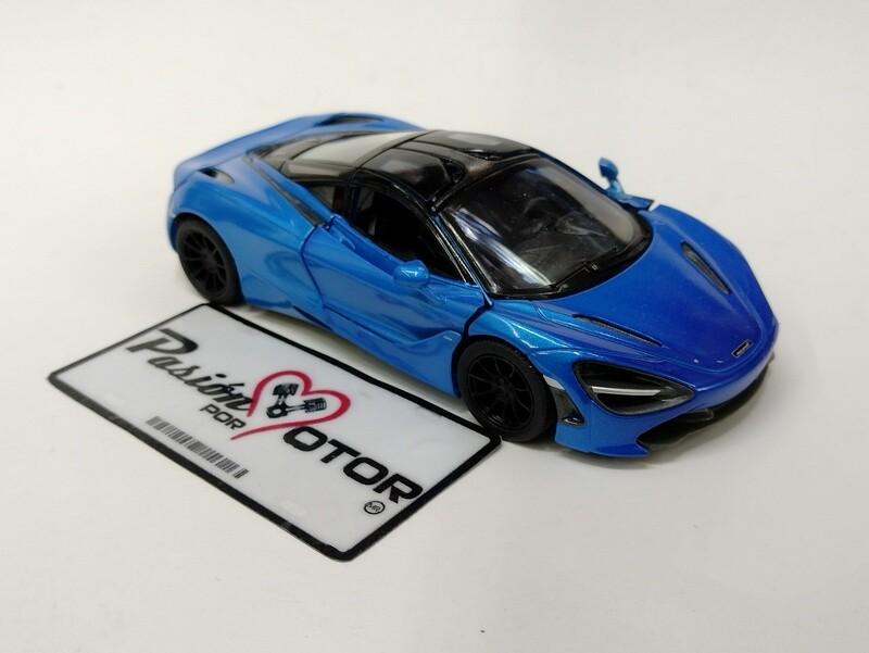 Kinsmart 1:36 McLaren 720S Coupe 2017 MSO Azul Display a Granel 1:32
