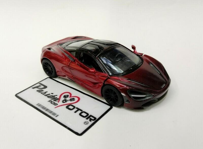 Kinsmart 1:36 McLaren 720S Coupe 2017 MSO Rojo Display a Granel 1:32