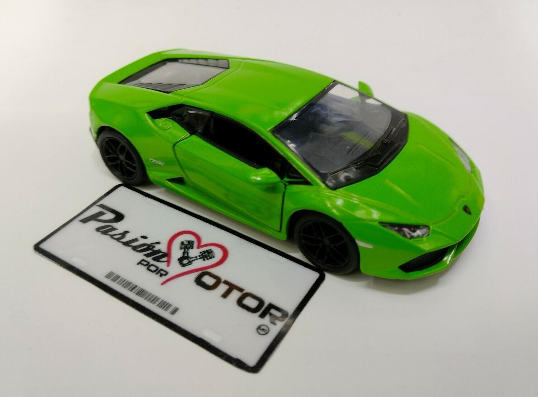 Kinsmart 1:36 Lamborghini Huracan LP610-4 Coupe 2014 Verde Display a Granel KT5382D
