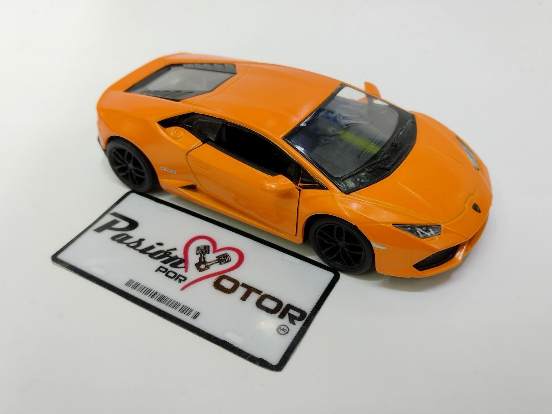 Kinsmart 1:36 Lamborghini Huracan LP610-4 Coupe 2014 Naranja Display a Granel 1:32