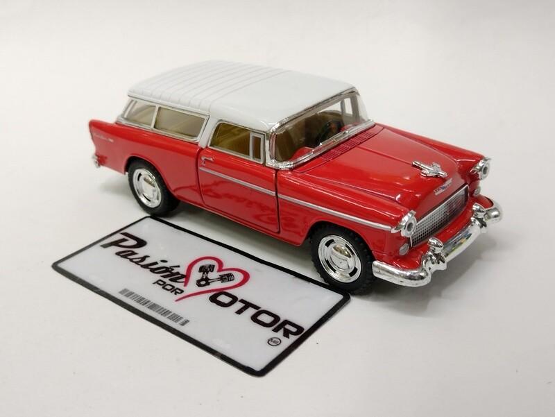 Kinsmart 1:40 Chevrolet Nomad Guayin 1955 Rojo y Blanco Display a Granel 1:43